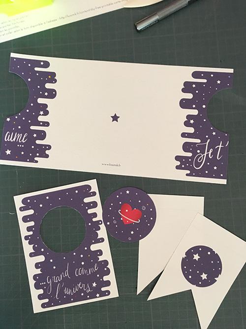 KOSMIK - Carte magique de l'amour cosmique - DIY